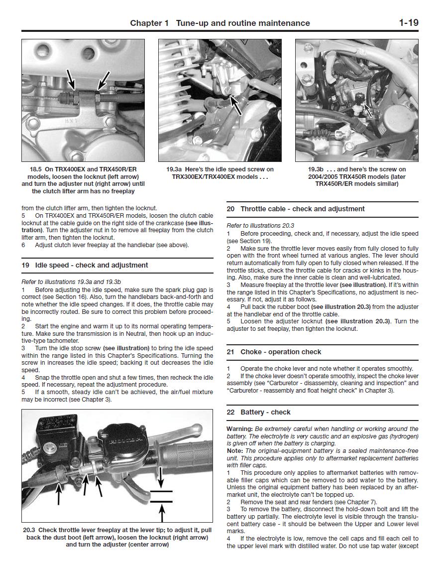 hight resolution of haynes 2318 honda trx300ex trx400x ex and trx450r er repair manual