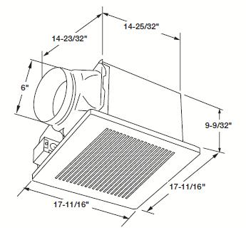 Panasonic FV-40VQ4 WhisperCeiling Ventilation Bathroom Fan