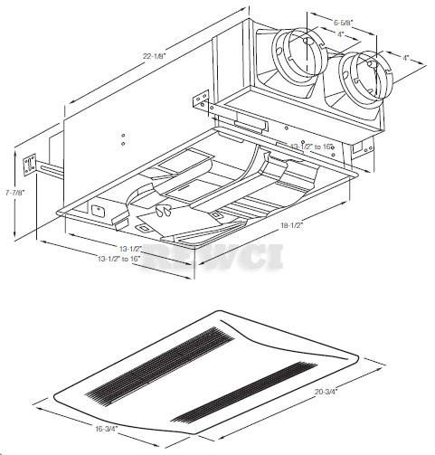 Panasonic FV-04VE1 WhisperComfort Ceiling Insert Ventilator