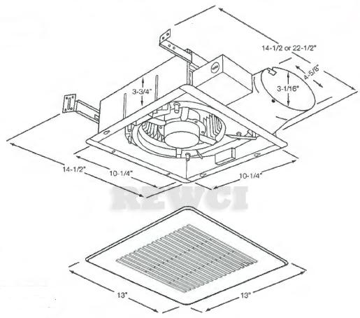 Panasonic FV-10VS3 WhisperValue Bathroom Fan