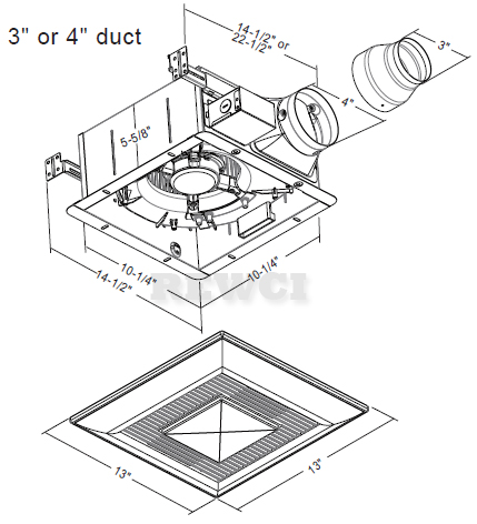 Panasonic FV-11VFL4 WhisperFit-Lite Bathroom Exhaust Fan