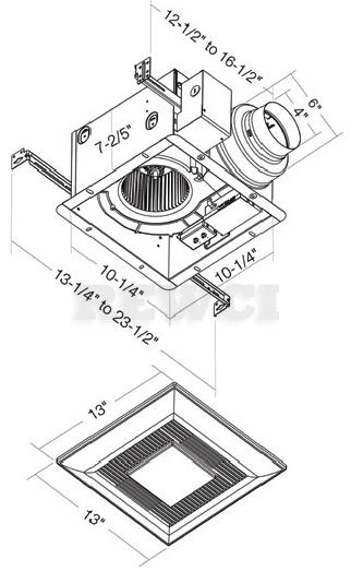 Panasonic WhisperGreen-Lite FV-11VKL3110 CFM Bathroom