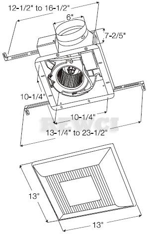 Panasonic FV-15VQL6 Bathroom Vent Fan