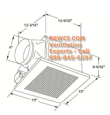 Panasonic FV-30VQ3 WhisperCeiling Ventilation Bathroom Fan