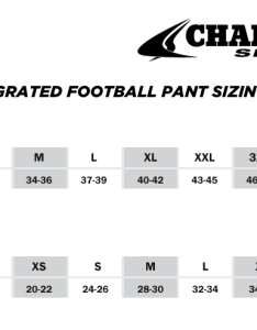 Champro integratedpant sizing also youth football pant size chart mersnoforum rh