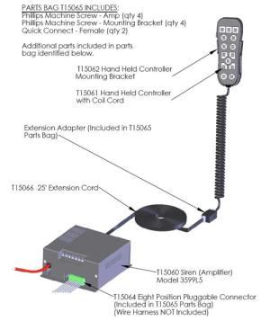 Code 3 PSE H2Covert HandHeld SirenLight Controller  3599L5 from SWPS