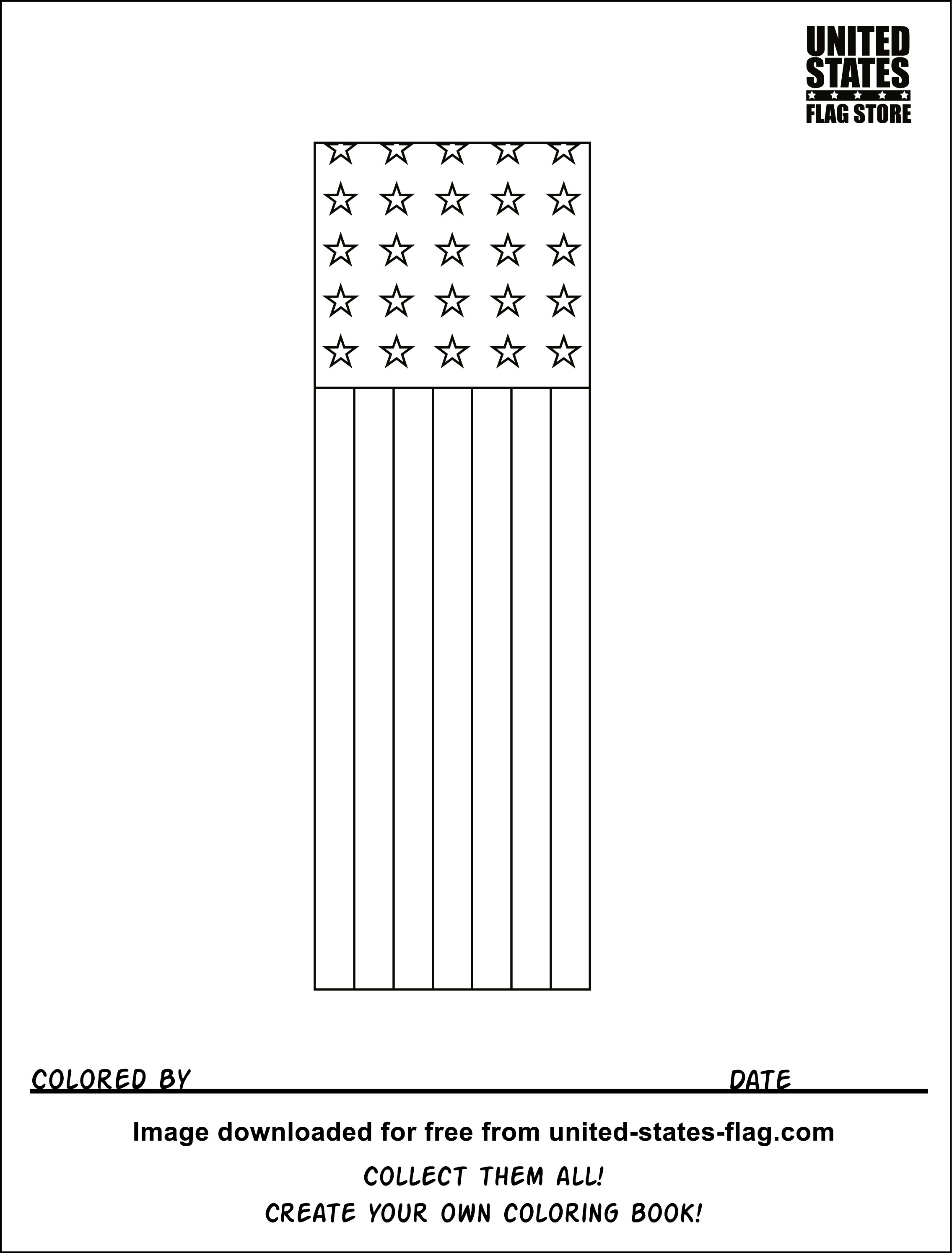 Free United States Flag Coloring Pages