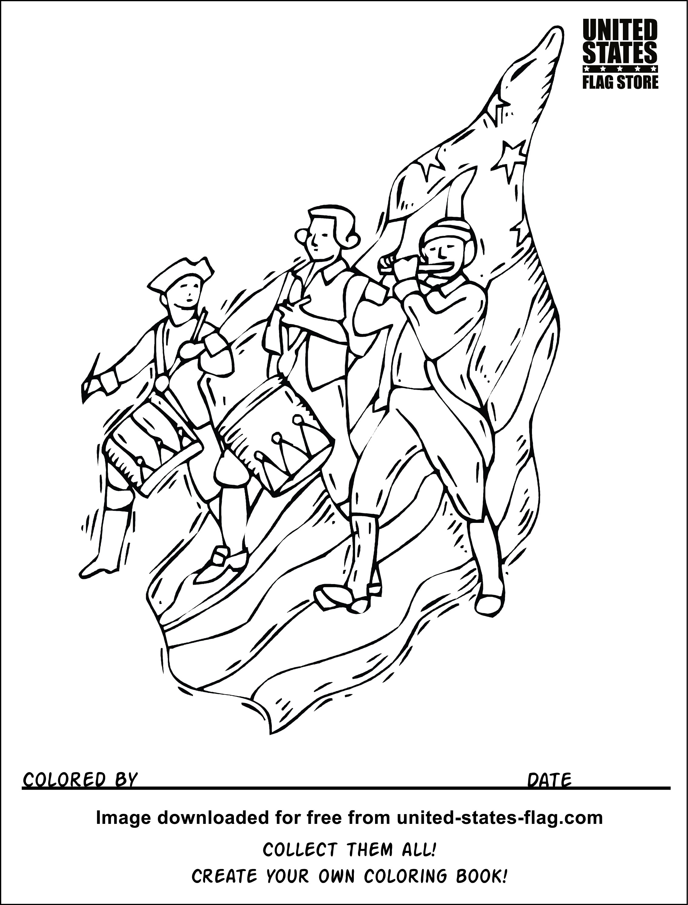 Civil War Flags Coloring Pages Coloring Pages