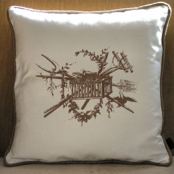French Farm Pillow: I love that this pillow is both elegant and rustic. For me, its just the amount of toile in my house.