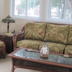 Tropical Sofa Slipcovers Black Covers Target Wicker Sofas A Selection For Your Patio