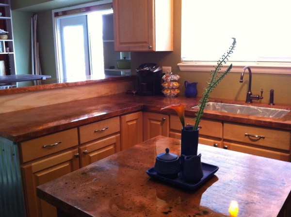Basic Copper Copper Countertop and Copper Island by Beth