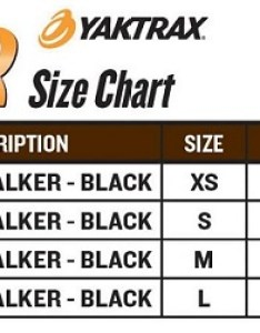 Yaktrax walker size chart also ice traction the warming store rh thewarmingstore