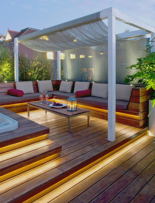 deck and balcony lighting with leds