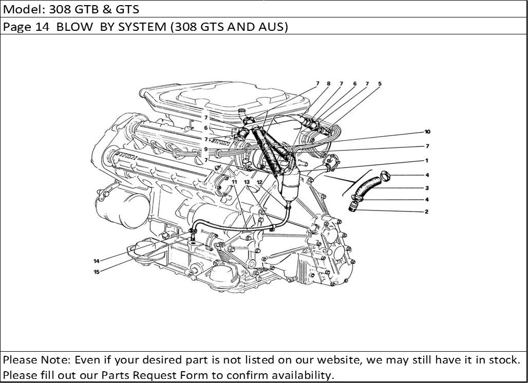 Buy Ferrari Part # 106981 CRANKCASE BREATHER HOSE, 308GT4