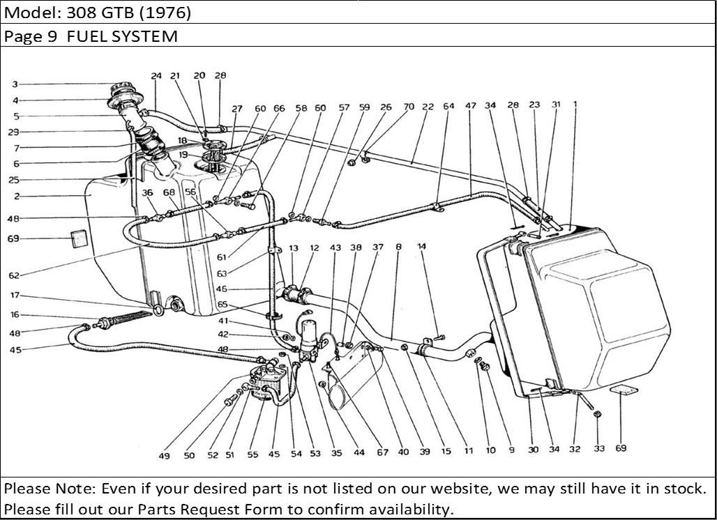 Buy Ferrari Part # 109354 FUEL HOSE, 308/308 GTBi, 308