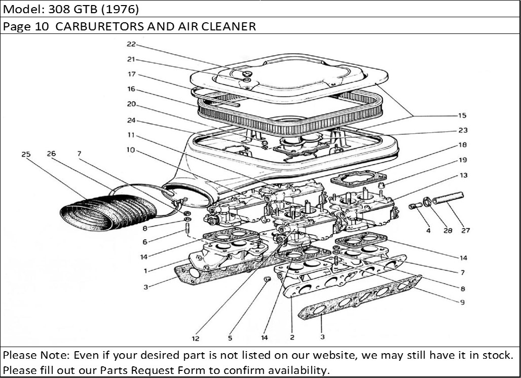 Buy Ferrari Part # 103925 AIR FILTER, AIR CLEANER HOUSING