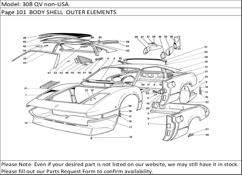 Buy Ferrari Part # 60421500 TARGA TOP ROOF HANDLE, 308GTS