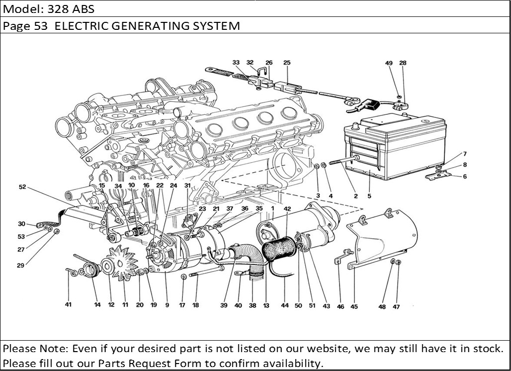 Ferrari 328 Engine Diagram. Ferrari. Auto Parts Catalog