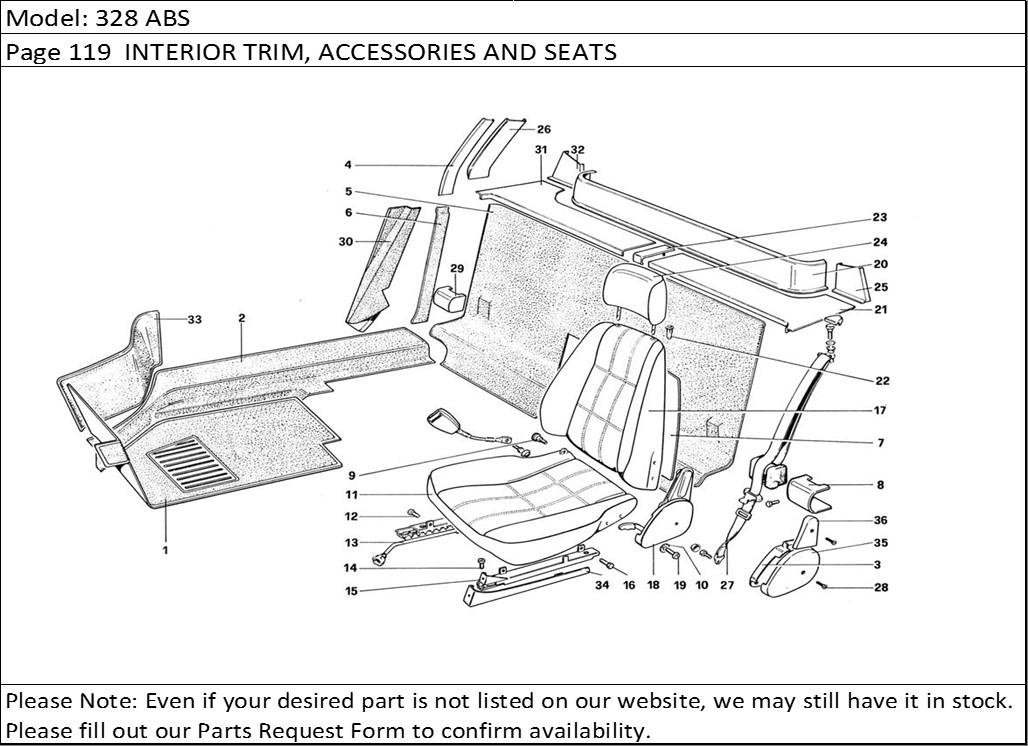 Buy Ferrari Part # 61135200 MOULDING LH C(New Part
