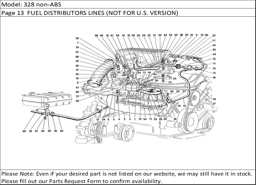 Buy Ferrari Part # 115739 COLD START VALVE, 308 GTBi, 308