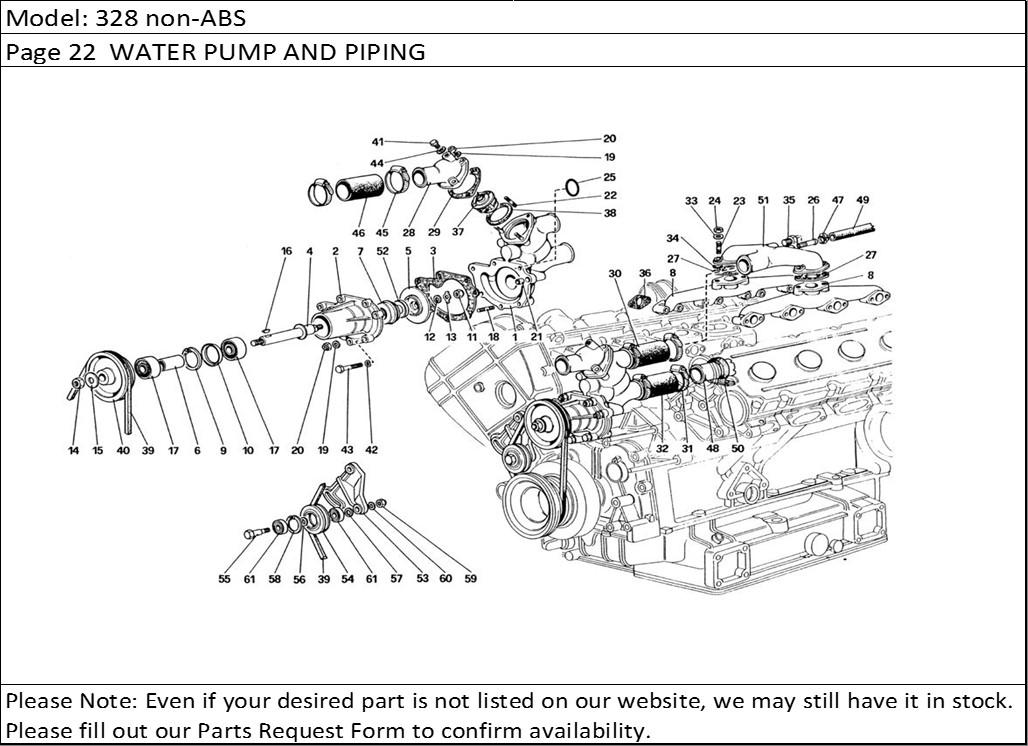 Buy Ferrari Part # 105189 THERMOSTAT GASKET, 208/288GTO