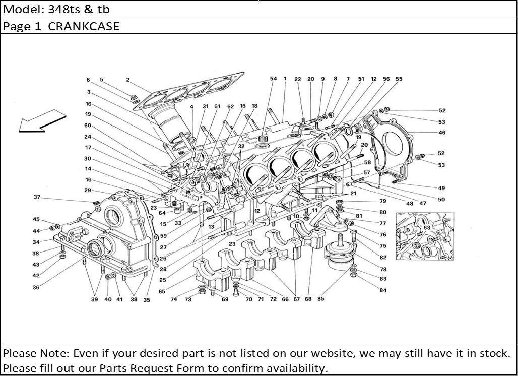 Buy Ferrari Part # 136875 CYLINDER LINER, F355, F 355, Buy