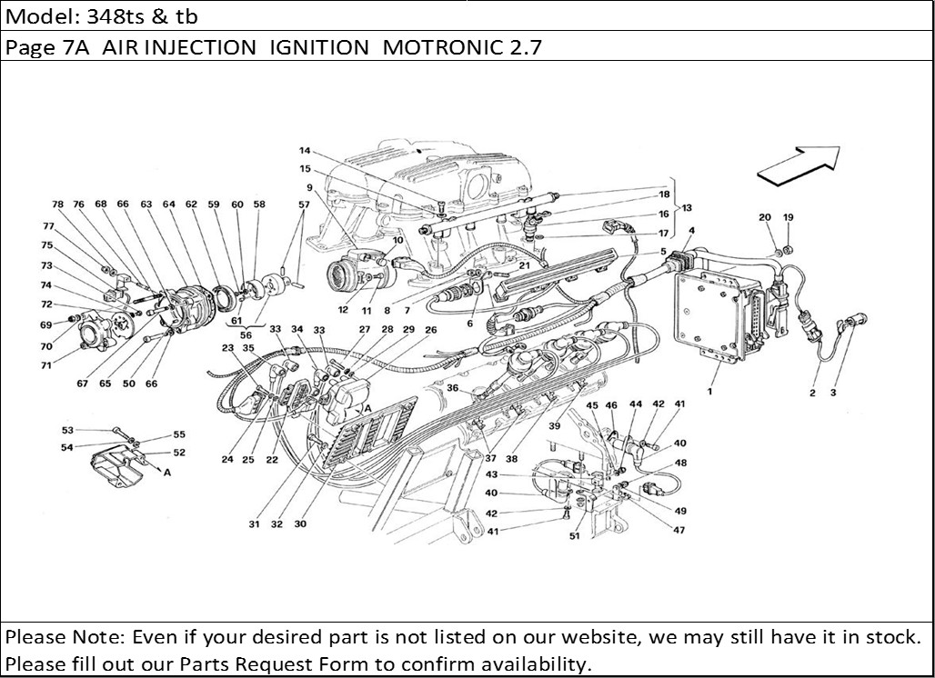 Buy Ferrari Part # 130975 FLYWHEEL SPEED SENSOR, 348/512