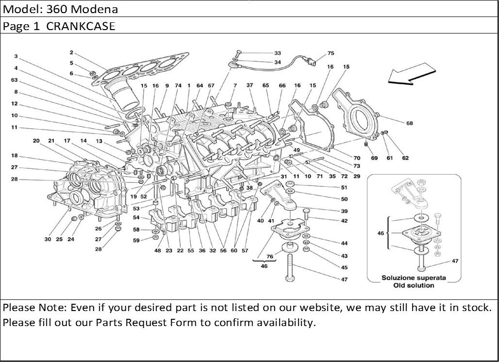 Buy Ferrari Part # 182142 UPDATED ENGINE MOUNT, F360, F