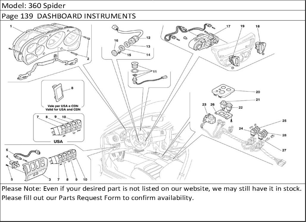 Buy Ferrari Part # 63934200 INTERIOR TEMPERATURE SENSOR