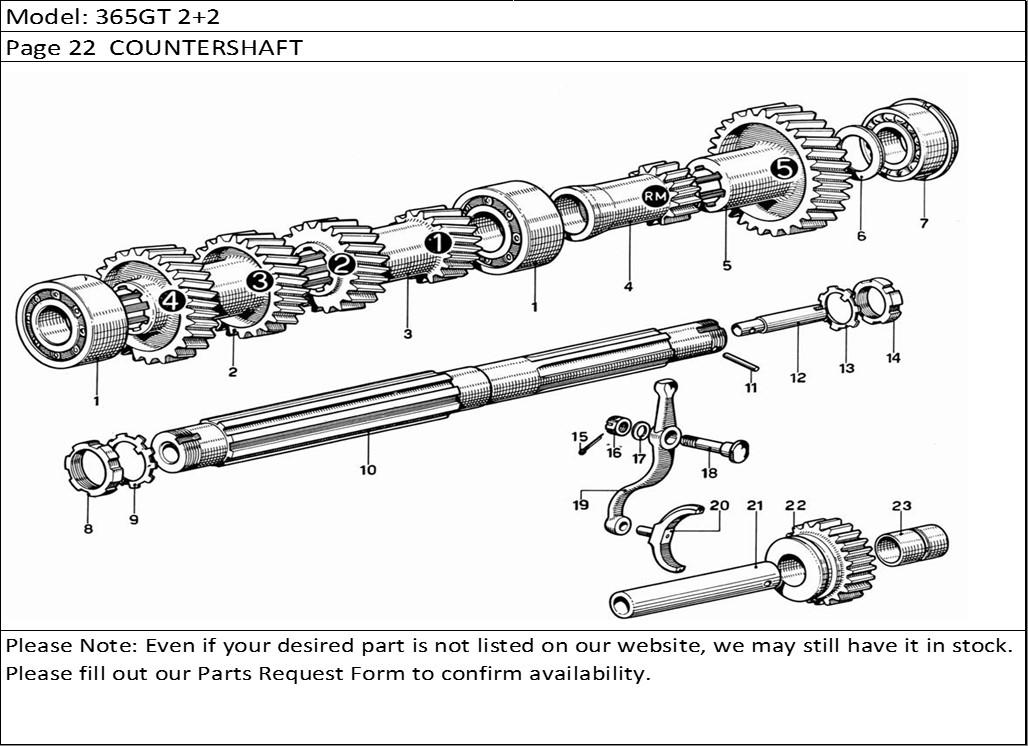 Buy Ferrari Part # 55774 GEARBOX SECONDARY SHAFT OIL PUMP