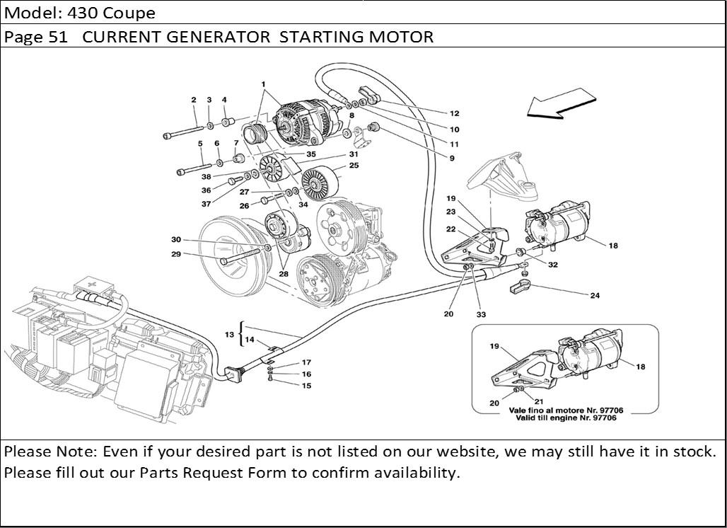 Buy Ferrari Part # 172537 ACCESSORY DRIVE BELT TENSIONER