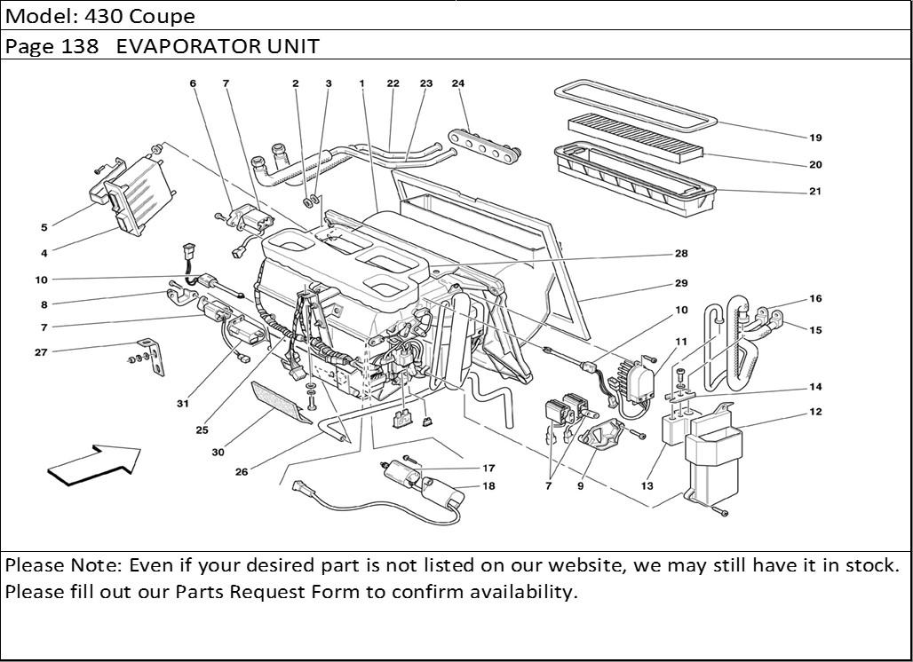 Buy Ferrari Part # 65629700 AIR CONDITIONING, AIR