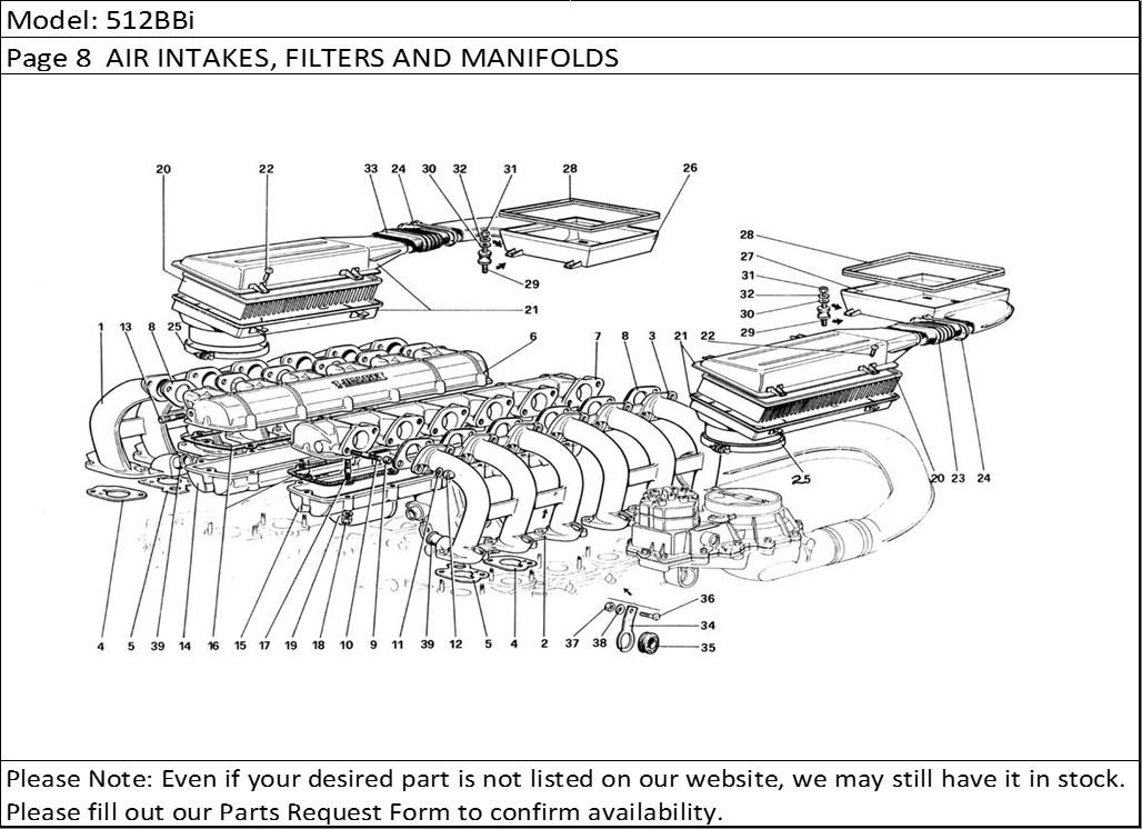 Buy Ferrari Part # 107103 AIR FILTER, AIR CLEANER HOUSING