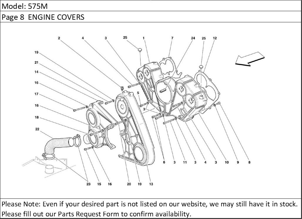 Buy Ferrari Part # 155576 CAMSHAFT TIMING BELT COVER, 456