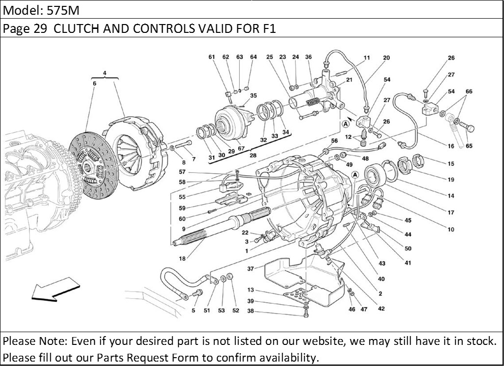 Buy Ferrari Part # 187752 F1 CLUTCH RELEASE BEARING SENSOR
