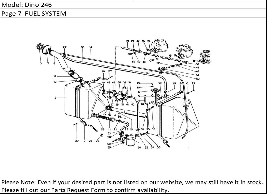 Buy Ferrari Part # 102600 FUEL TANK PICKUP FILTER, 246M
