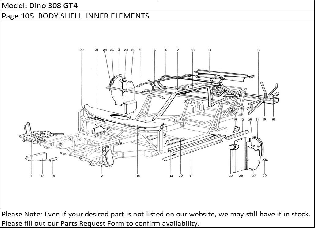 Buy Ferrari Part # 40009706 BUMPER TUBE(New Part #40009706