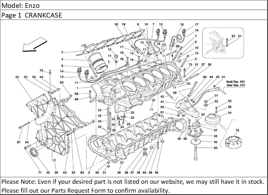 Buy Ferrari Part # 182194 ANGOLAR SPEED SENSOR, F360, F