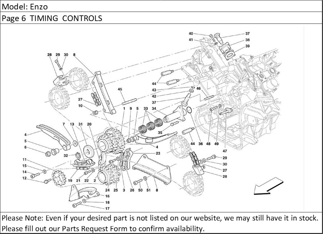 Buy Ferrari Part # 186854 ENGINE CRANKSHAFT TIMING DRIVE
