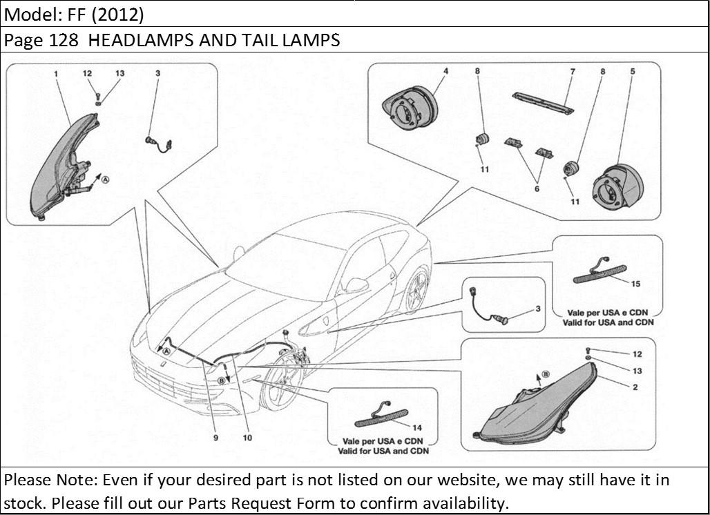 Buy Ferrari Part # 264480 REAR NUMBER PLATELAMP, LIGHT
