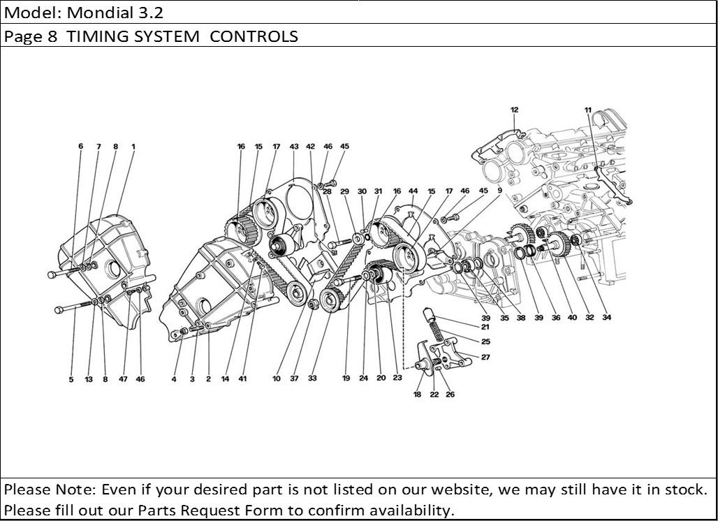 Buy Ferrari Part # 124681 LEFT CAMSHAFT TIMING BELT COVER