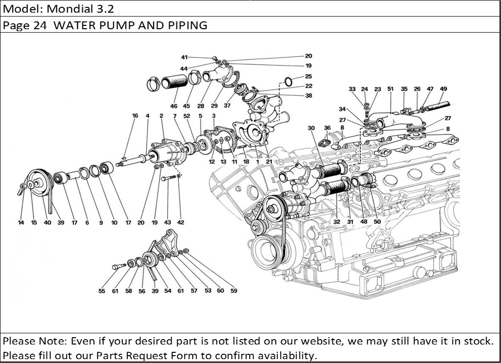Buy Ferrari Part # 116159 WATER PUMP SEALED BALL BEARING