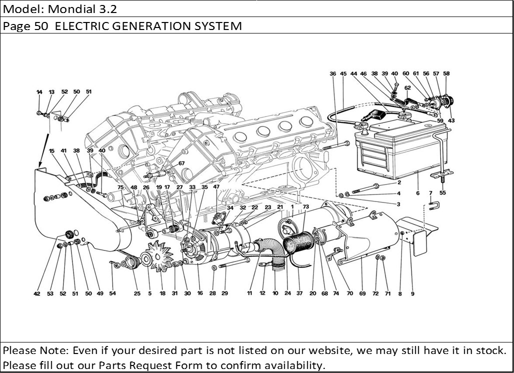 Buy Ferrari Part # 120967 STARTER MOTOR, F40, F 40/288GTO