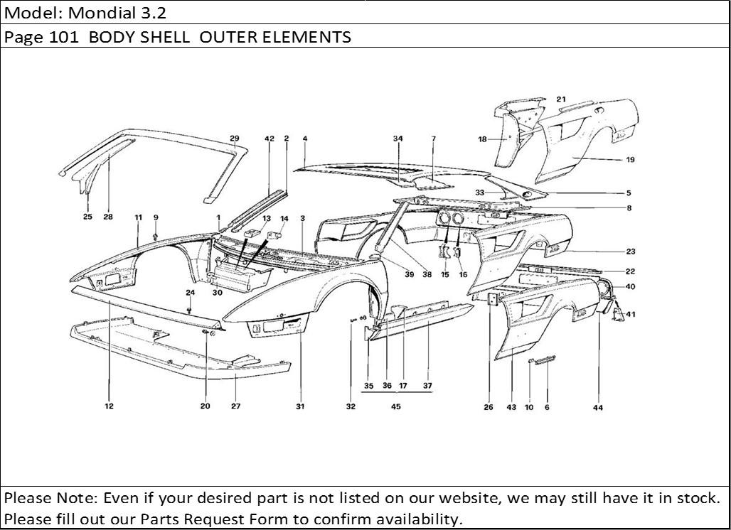 Buy Ferrari Part # 60543000 RAIL STIFFENING(New Part