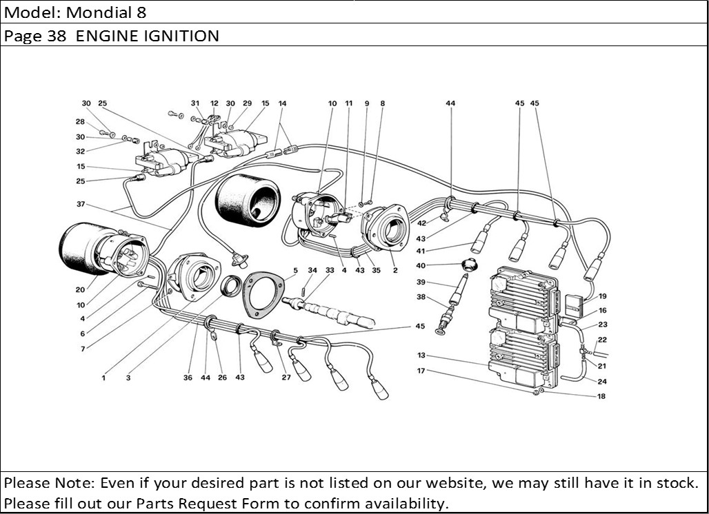 Buy Ferrari Part # 108333 SPARK PLUG BOOT, 308GT4, 308 GT4