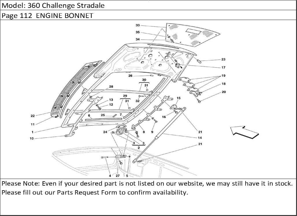 Buy Ferrari Part # 65855000 ENGINE LID GAS STRUT, F360, F