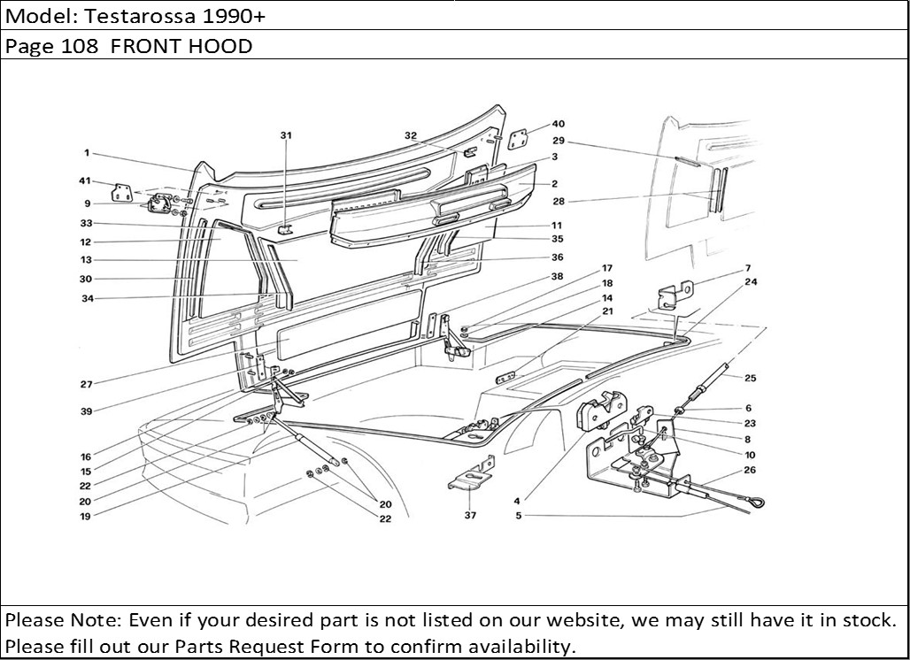 Buy Ferrari Part # 61571600 FRONT HOOD STRUT, TESTAROSSA
