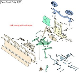Boss RT3 Sport Duty Snow Plow Parts Diagram
