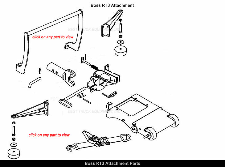 Boss TGS10955 RT3 Attachment Parts & Look-up Diagram