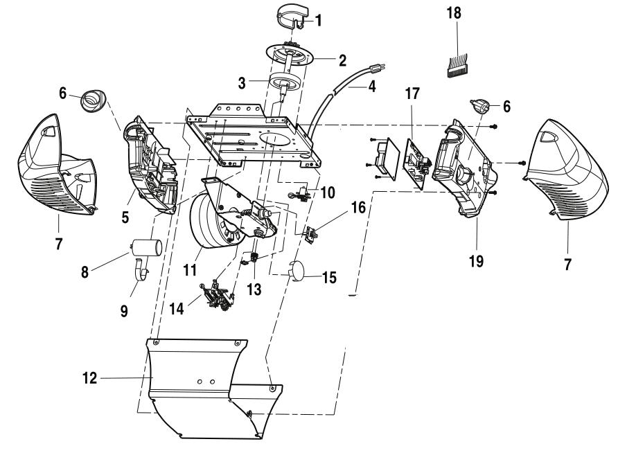 Liftmaster Garage Door Opener Model 3265 Chain Drive 1/2hp